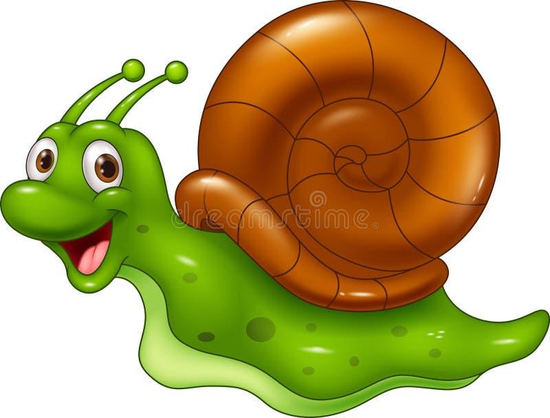 χαριτωμένο σαλιγκάρι κιν&omi διανυσματική απεικόνιση