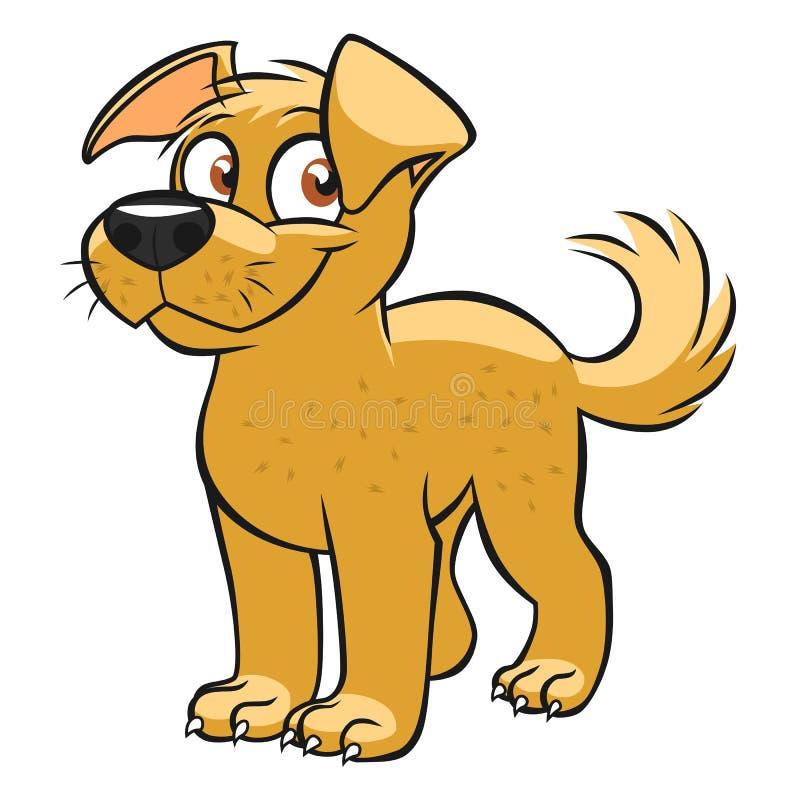 χαριτωμένο σκυλί κινούμενων σχεδίων διανυσματική απεικόνιση