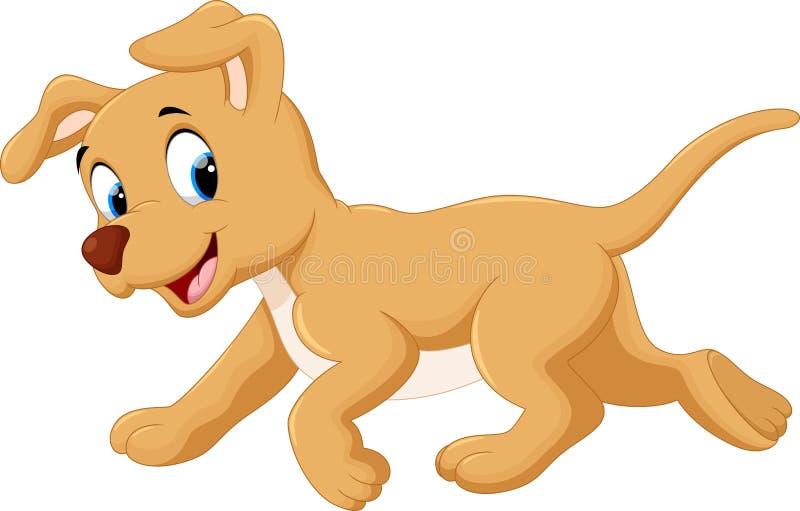 χαριτωμένο σκυλί κινούμε&nu διανυσματική απεικόνιση