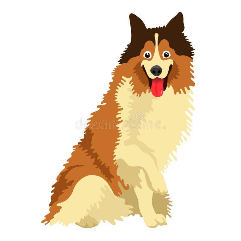 Χαριτωμένο σκυλί της φυλής κόλλεϊ διανυσματική απεικόνιση