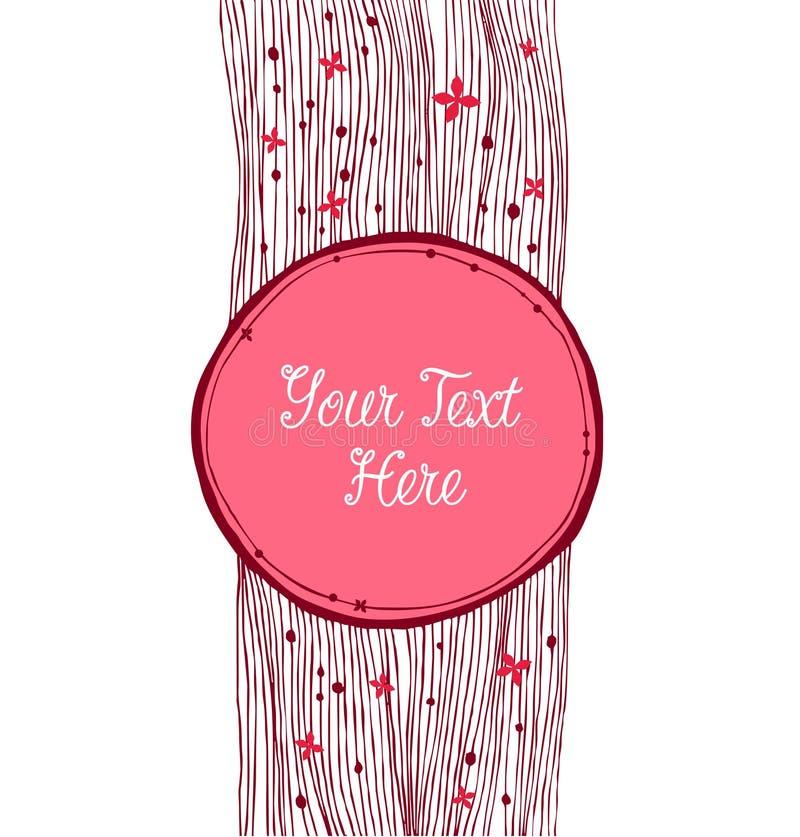 Χαριτωμένο στρογγυλό έμβλημα Μπορέστε να χρησιμοποιηθείτε για τα δώρα, κάρτες, προσκλήσεις διανυσματική απεικόνιση