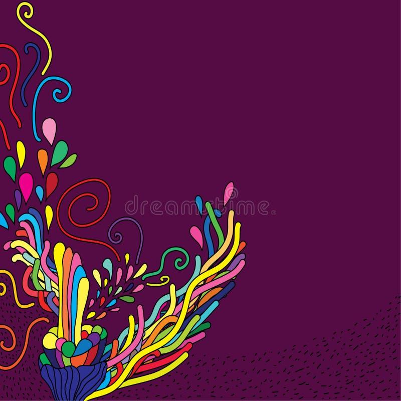 χαριτωμένο συρμένο doodle χέρι διανυσματική απεικόνιση