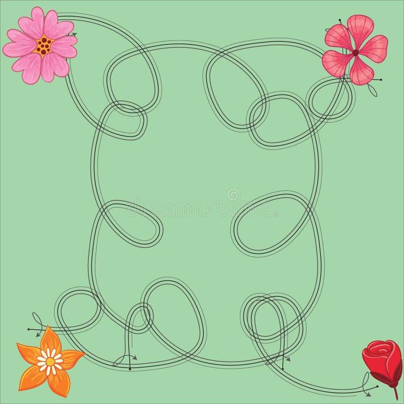 Χαριτωμένο σχέδιο λουλουδιών φωτεινό και που αναζωογονεί απεικόνιση αποθεμάτων