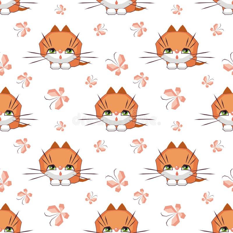 Χαριτωμένο σχέδιο γατών διανυσματική απεικόνιση