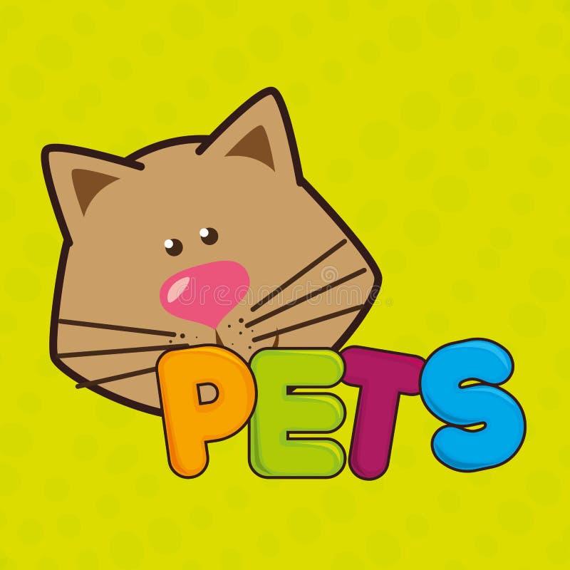 χαριτωμένο σχέδιο κατοικίδιων ζώων απεικόνιση αποθεμάτων