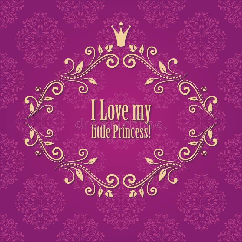 Χαριτωμένο φωτεινό ρόδινο πορφυρό damask υπόβαθρο ελεύθερη απεικόνιση δικαιώματος