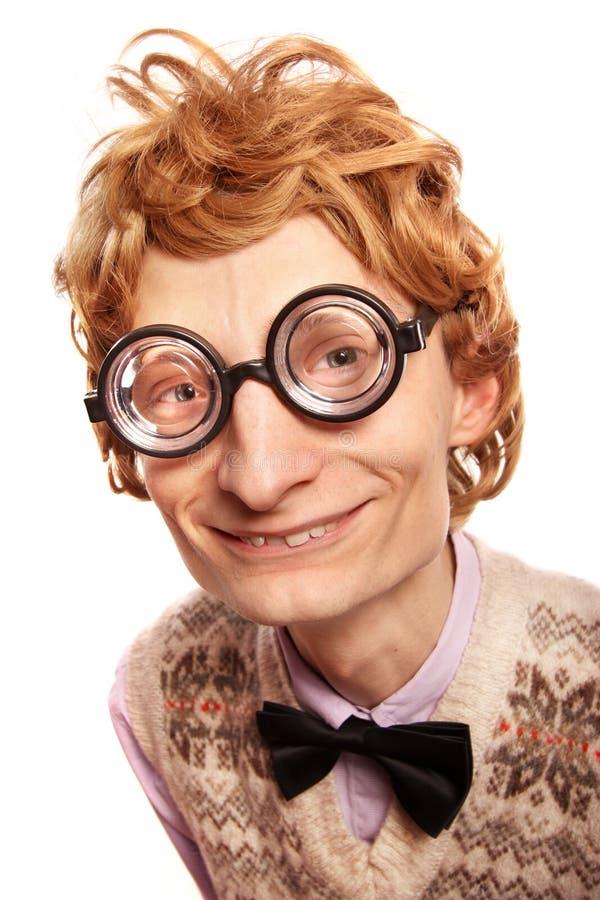 χαριτωμένο χαμόγελο nerd στοκ εικόνα με δικαίωμα ελεύθερης χρήσης
