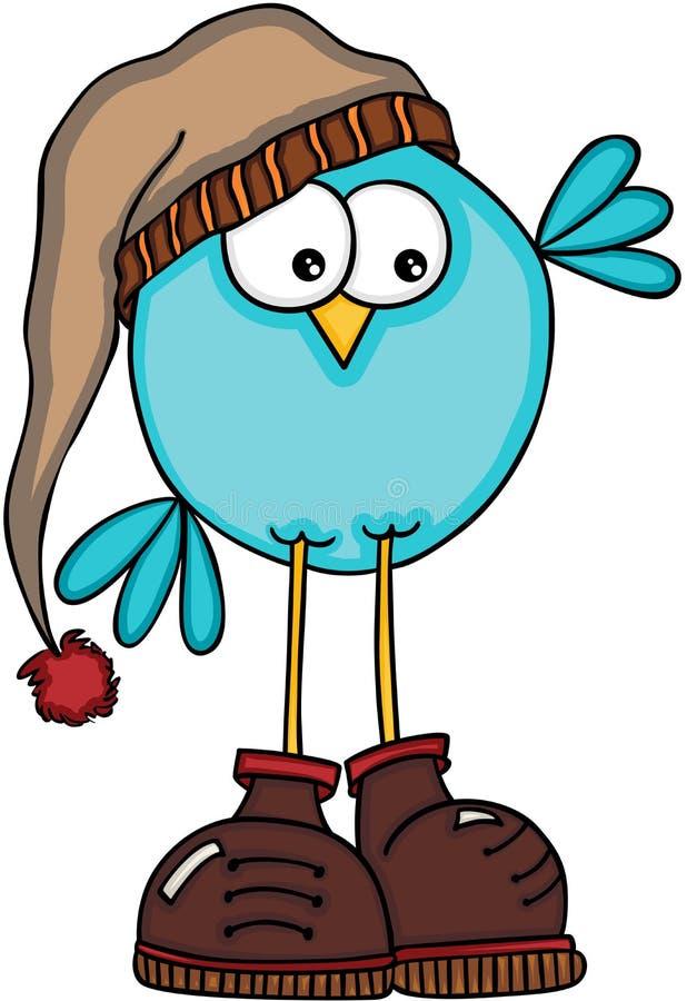 Χαριτωμένο χειμερινό πουλί ελεύθερη απεικόνιση δικαιώματος