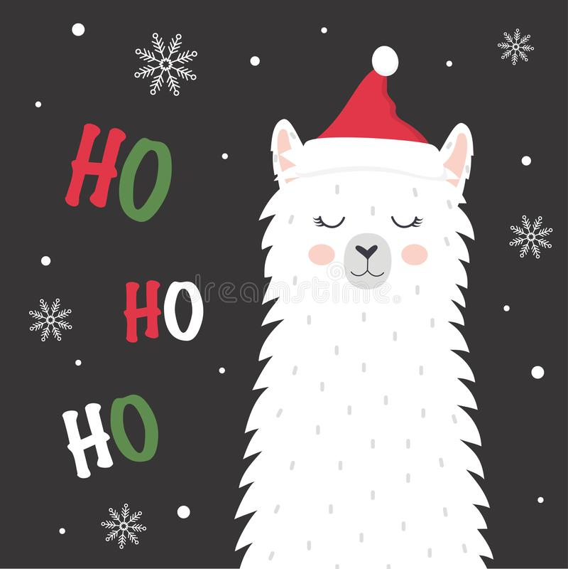 Χαριτωμένο χειμερινό llama απεικόνιση αποθεμάτων