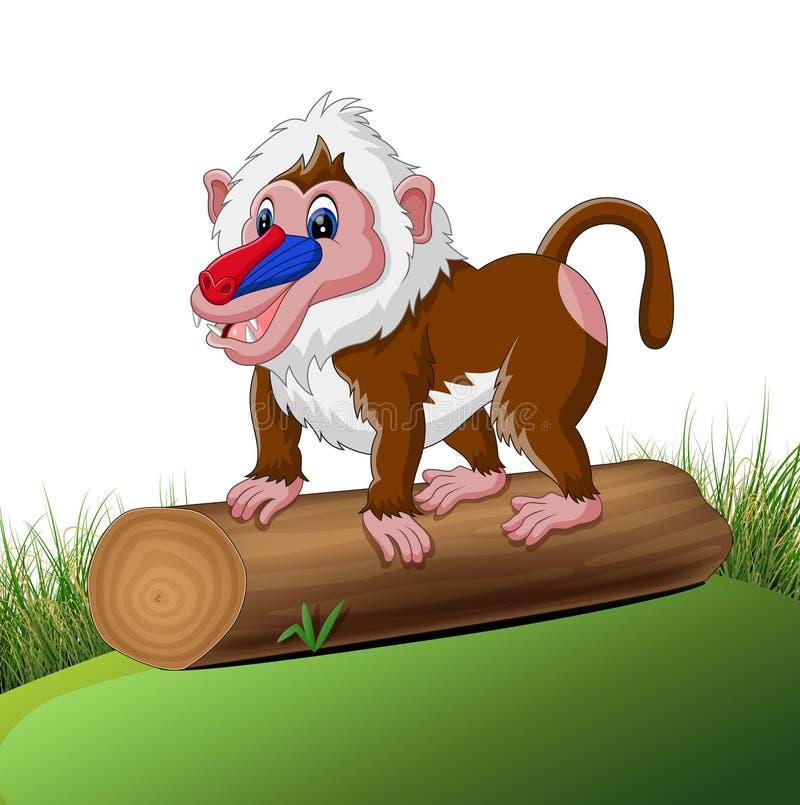 Χαριτωμένο baboon απεικόνιση αποθεμάτων