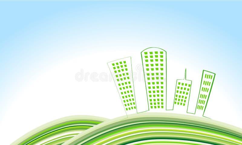 χαριτωμένο eco πόλεων απεικόνιση αποθεμάτων