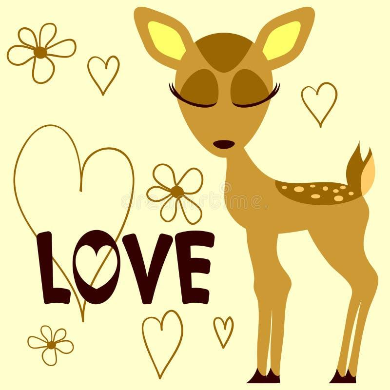 Χαριτωμένο fawn απεικόνιση αποθεμάτων
