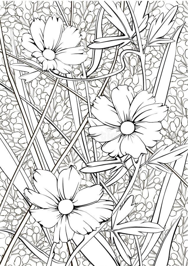 Χαριτωμένο floral άνευ ραφής σχέδιο για μια καλή διάθεση στοκ φωτογραφία με δικαίωμα ελεύθερης χρήσης