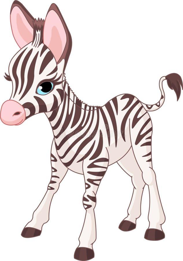 χαριτωμένο foal με ραβδώσεις διανυσματική απεικόνιση