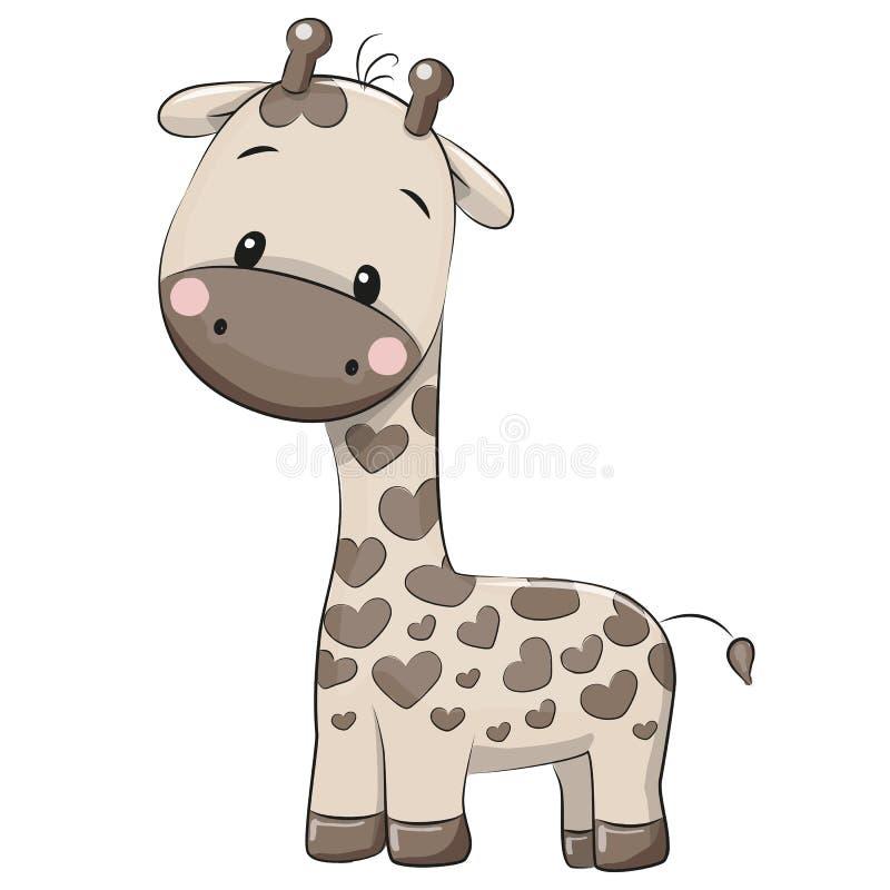 χαριτωμένο giraffe κινούμενων σχεδίων διανυσματική απεικόνιση