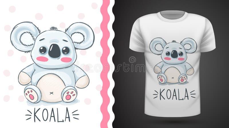 Χαριτωμένο koala - ιδέα για την μπλούζα τυπωμένων υλών ελεύθερη απεικόνιση δικαιώματος