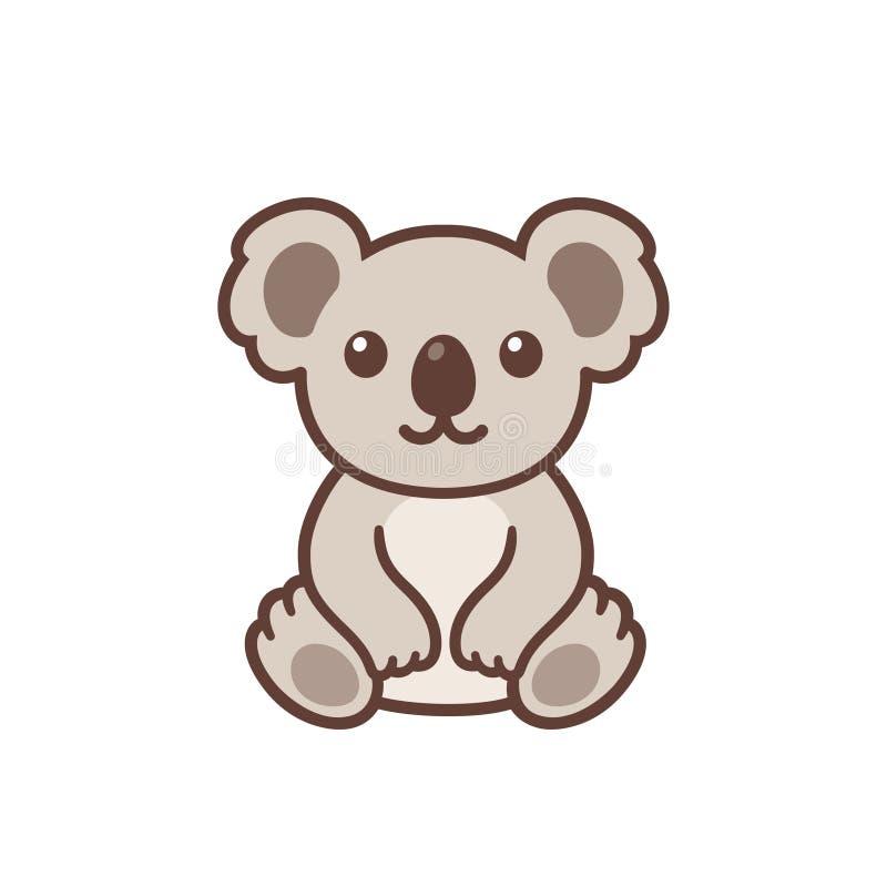 Χαριτωμένο koala κινούμενων σχεδίων απεικόνιση αποθεμάτων