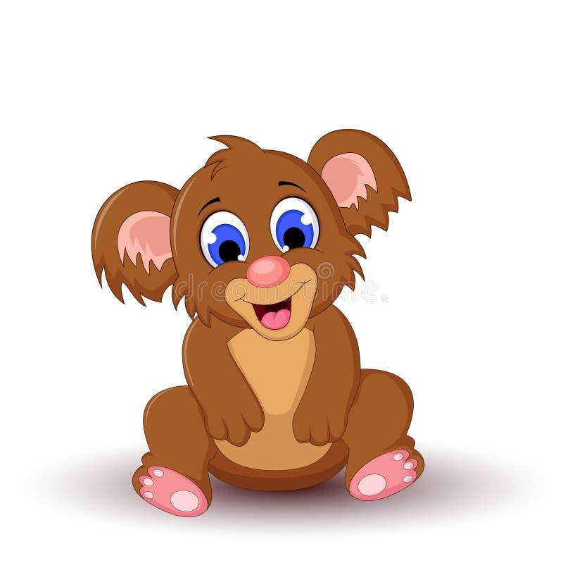 Χαριτωμένο koala κινούμενων σχεδίων διανυσματική απεικόνιση