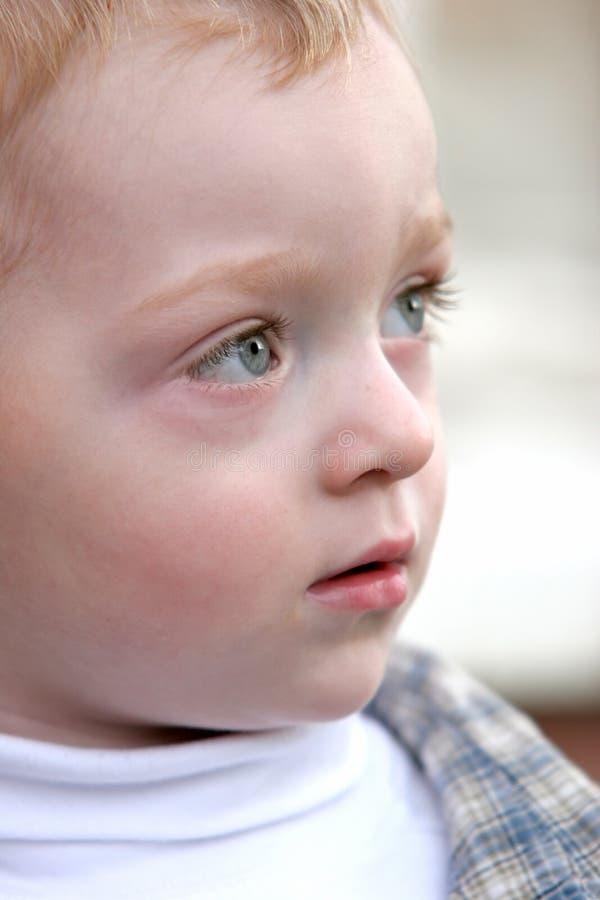 χαριτωμένο redhead μικρό παιδί στοκ εικόνες