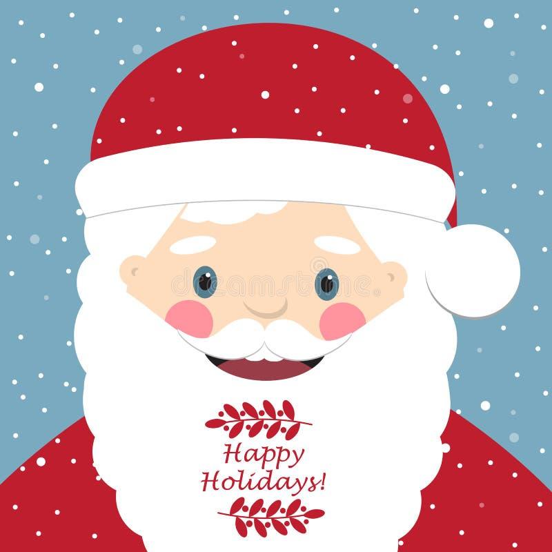 χαριτωμένο santa Claus διάνυσμα καρτών απεικόνισης Χριστουγέννων eps10 ελεύθερη απεικόνιση δικαιώματος