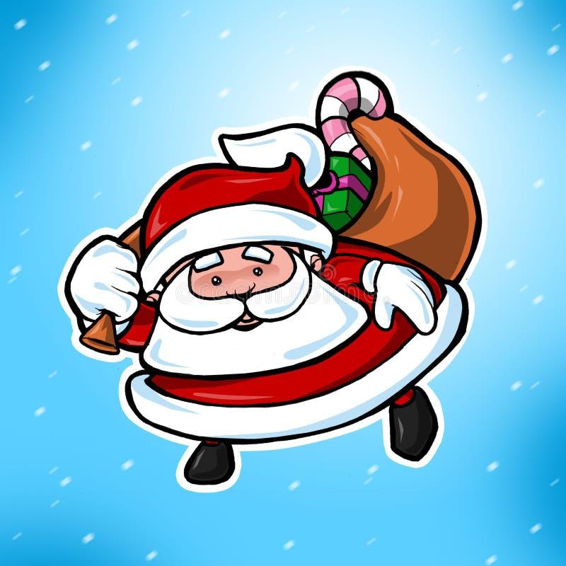 Download χαριτωμένο Santa Claus Χριστουγένν&o Απεικόνιση αποθεμάτων - εικονογραφία από κόκκινος, παιδιά: 1542307
