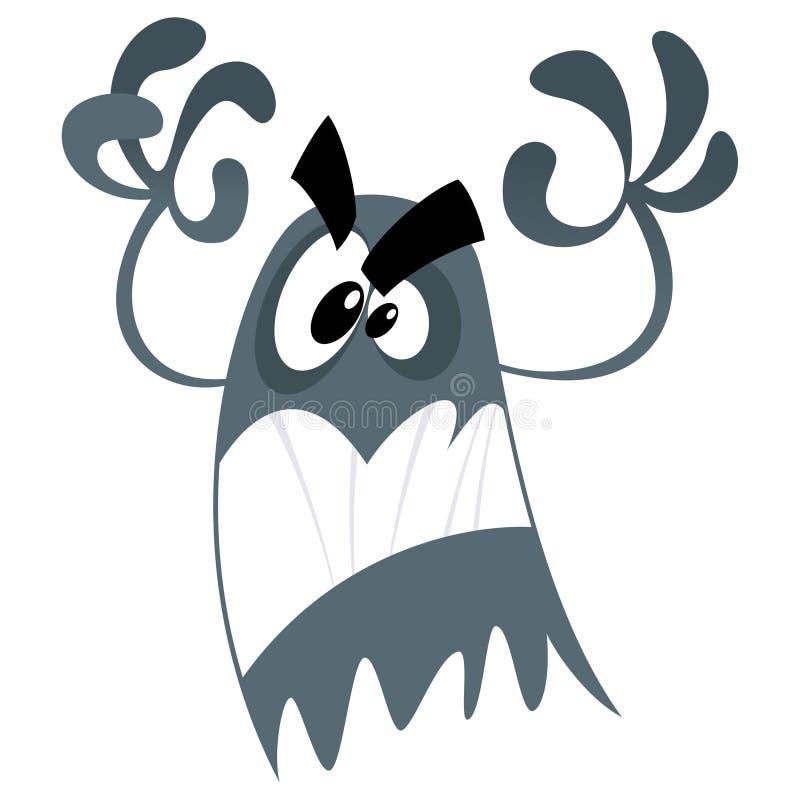 Scary φάντασμα κινούμενων σχεδίων διανυσματική απεικόνιση