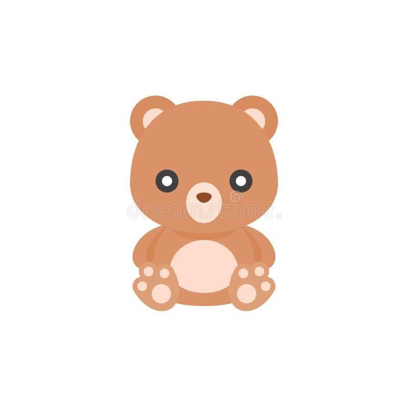 Χαριτωμένο Teddy αντέχει το εικονίδιο απεικόνιση αποθεμάτων