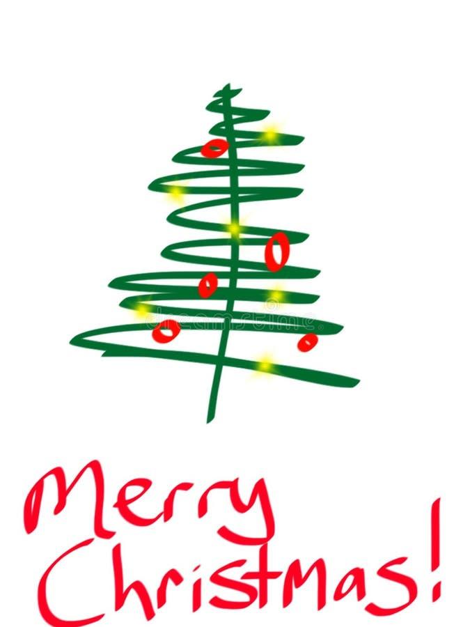 Χαρούμενα Χριστούγεννα γραφική ελεύθερη απεικόνιση δικαιώματος