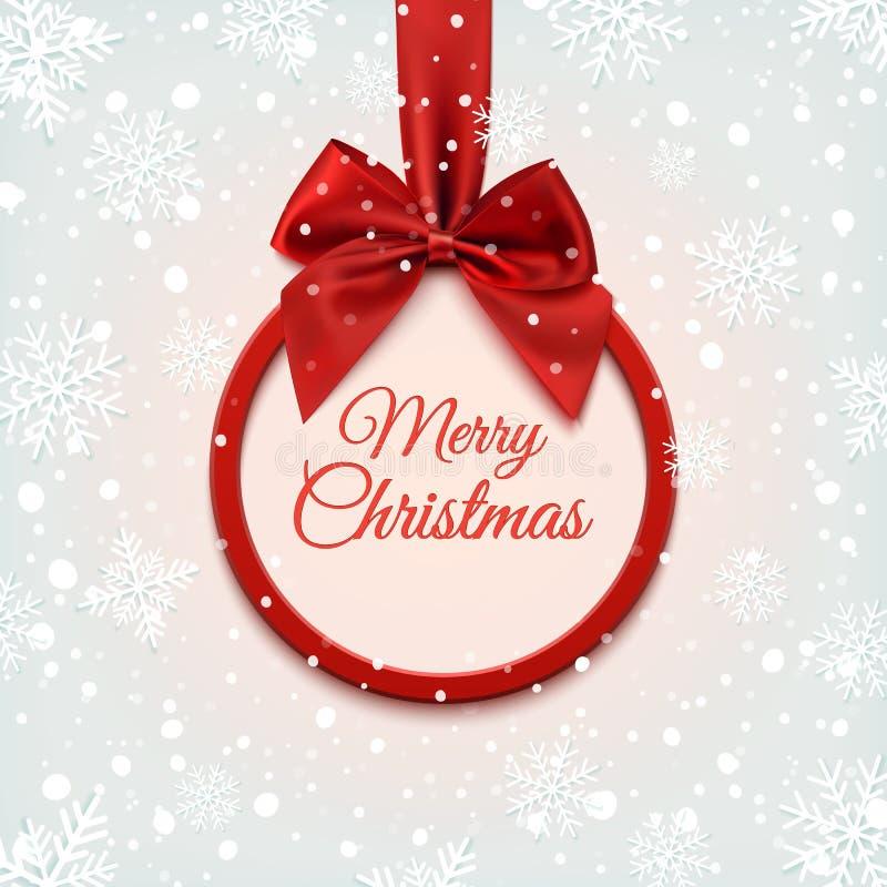 Χαρούμενα Χριστούγεννα γύρω από το έμβλημα διανυσματική απεικόνιση