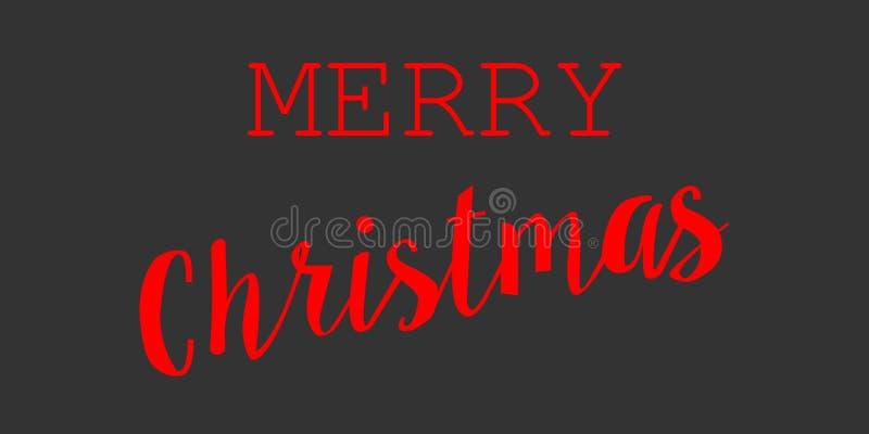 Χαρούμενα Χριστούγεννα, διανυσματικό σύμβολο λογότυπων στο σκοτεινό υπόβαθρο απεικόνιση αποθεμάτων