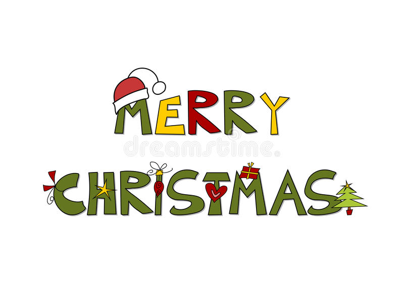 Χαρούμενα Χριστούγεννα - ευχετήρια κάρτα/χειμερινό υπόβαθρο απεικόνιση αποθεμάτων