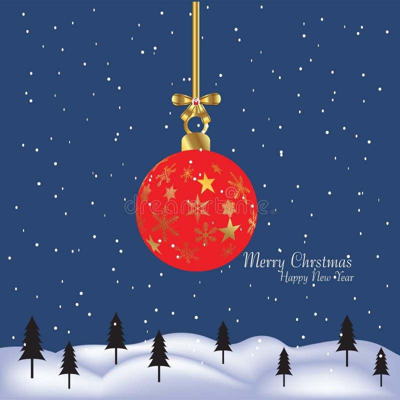 Χαρούμενα Χριστούγεννα και δώρο καλής χρονιάς παρόν διανυσματική απεικόνιση