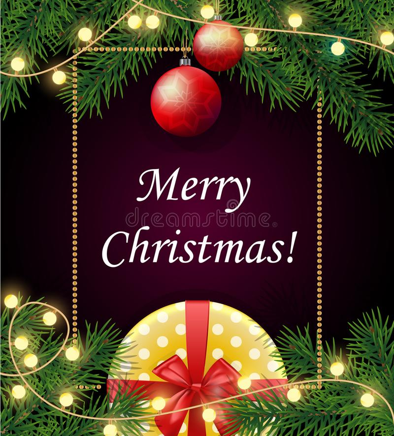 Χαρούμενα Χριστούγεννα και ευτυχές υπόβαθρο έτους του 2018 νέο με το πλαίσιο, ελεύθερη απεικόνιση δικαιώματος