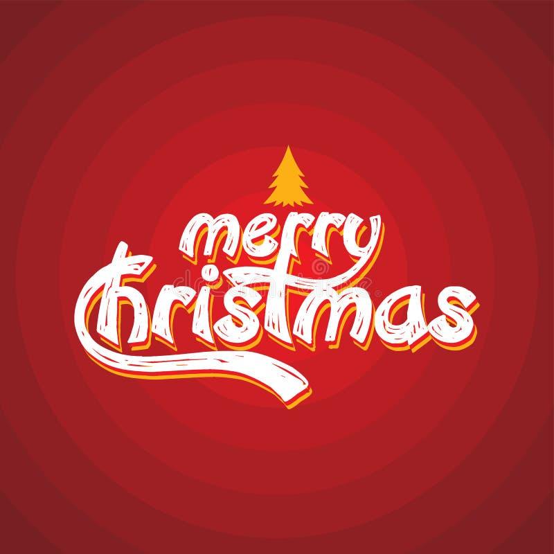 Χαρούμενα Χριστούγεννα και καλή χρονιά ελεύθερη απεικόνιση δικαιώματος