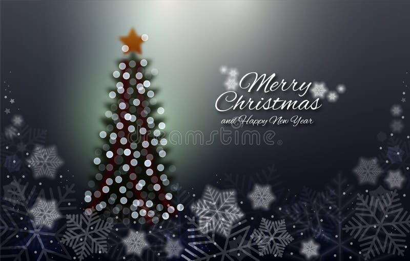 Χαρούμενα Χριστούγεννα και καλή χρονιά διανυσματική απεικόνιση
