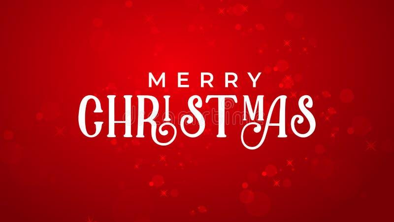 Χαρούμενα Χριστούγεννα και κόκκινο υπόβαθρο καλής χρονιάς ελεύθερη απεικόνιση δικαιώματος