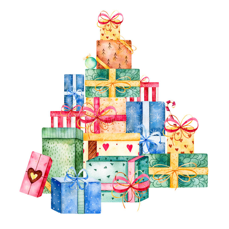 Χαρούμενα Χριστούγεννα και νέα συλλογή έτους απεικόνιση αποθεμάτων