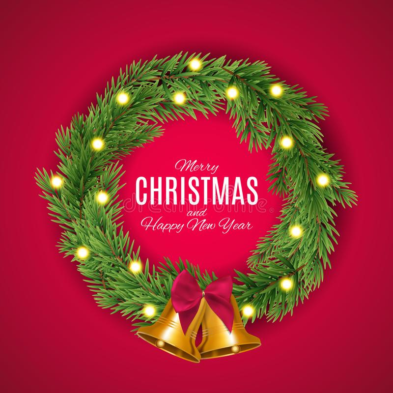 Χαρούμενα Χριστούγεννα και νέο υπόβαθρο έτους επίσης corel σύρετε το διάνυσμα απεικόνισης διανυσματική απεικόνιση