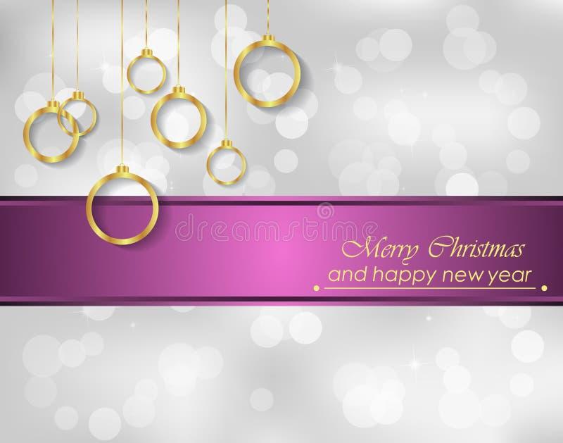 Download Χαρούμενα Χριστούγεννα και νέο υπόβαθρο έτους Διανυσματική απεικόνιση - εικονογραφία από πρόσκληση, επιστολές: 62700396