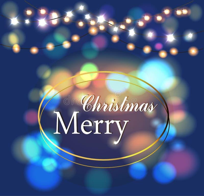 Χαρούμενα Χριστούγεννα μαγική ελεύθερη απεικόνιση δικαιώματος