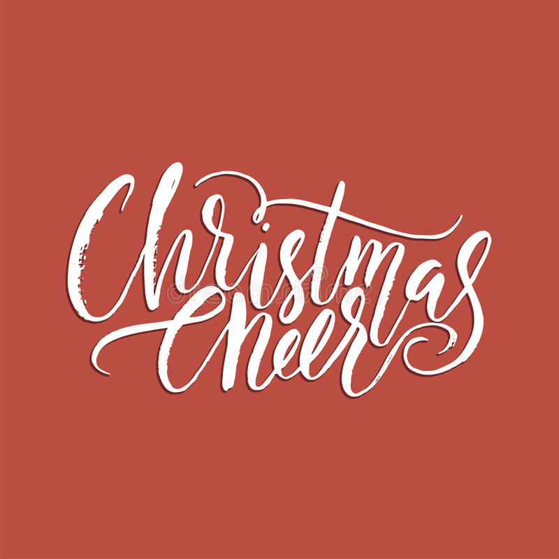 Χαρούμενα Χριστούγεννα που γράφει την τυπογραφία Σχέδιο κειμένων γραφής με τη χειμερινή handdrawn εγγραφή χαιρετισμός καλή χρονιά διανυσματική απεικόνιση