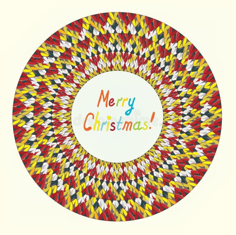 Χαρούμενα Χριστούγεννα που πλέκει τη ευχετήρια κάρτα διανυσματική απεικόνιση