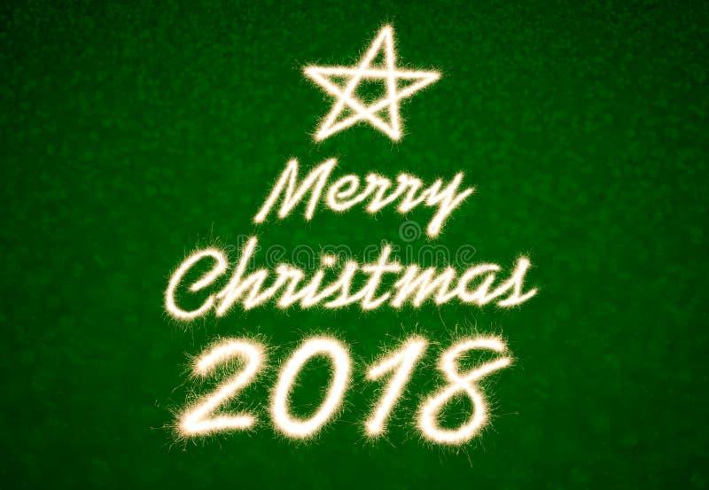 Χαρούμενα Χριστούγεννα 2018 στοκ φωτογραφία με δικαίωμα ελεύθερης χρήσης
