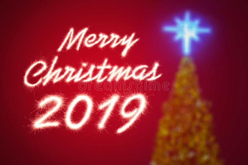 Χαρούμενα Χριστούγεννα 2019 στοκ εικόνα