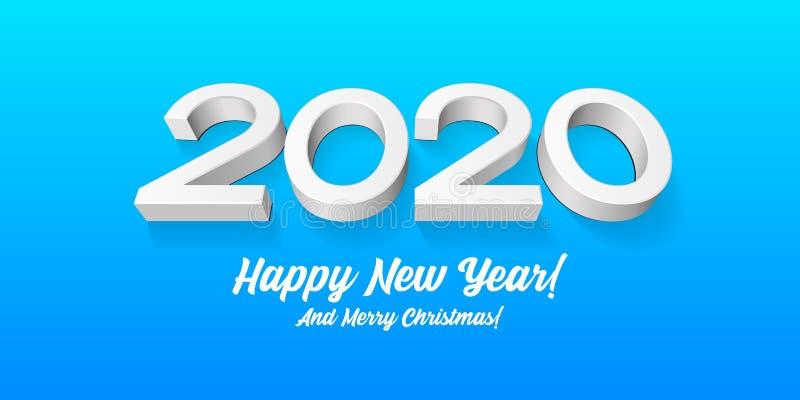 2020 Χαρούμενες Προσκλήσεις Με Θέμα Τα Χριστούγεννα, Με Θέμα Την Πρωτοχρονιά, Την Κάρτα, Το Πανό, Το Φυλλάδιο Ή Το Γάμο Γκρι, Λευ ελεύθερη απεικόνιση δικαιώματος
