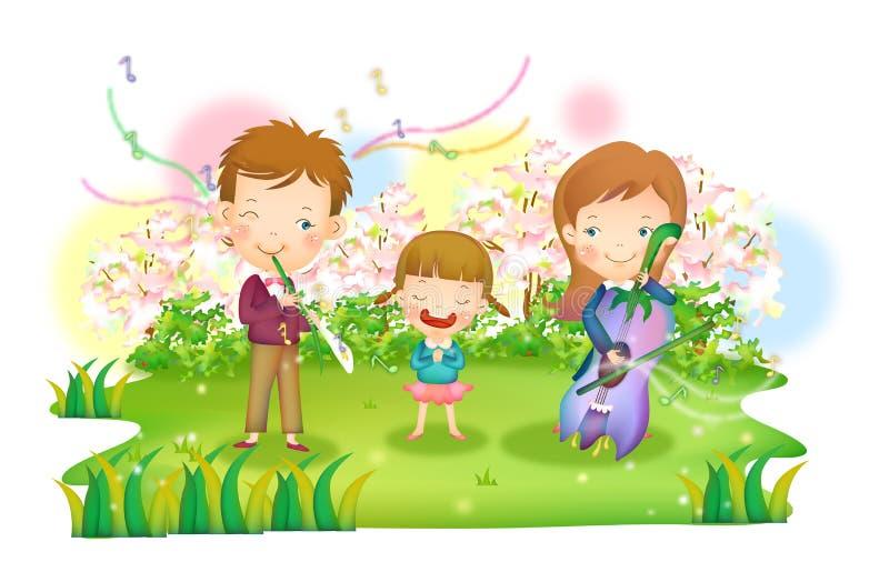 Χαρούμενη ζωή ελεύθερη απεικόνιση δικαιώματος
