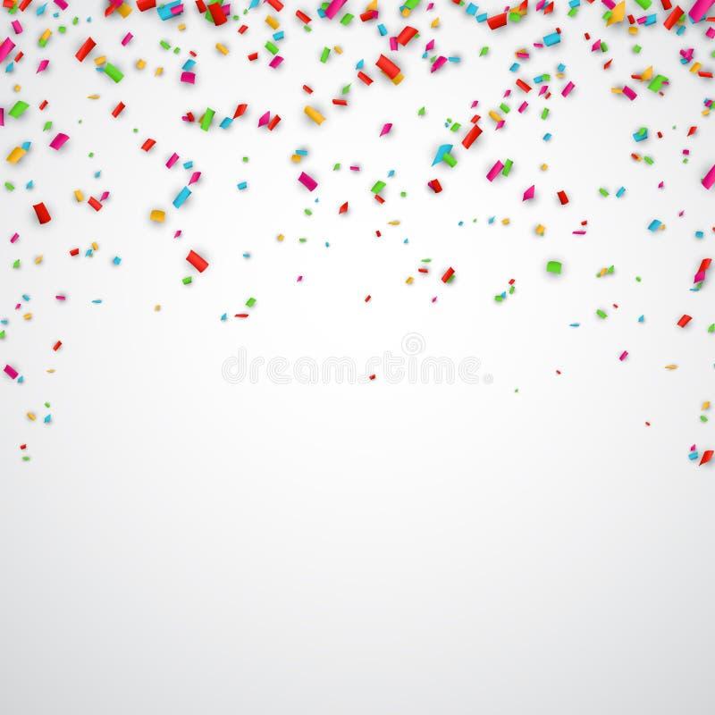 χαρούμενη ταπετσαρία κομφετί εορτασμού ανασκόπησης διανυσματική απεικόνιση