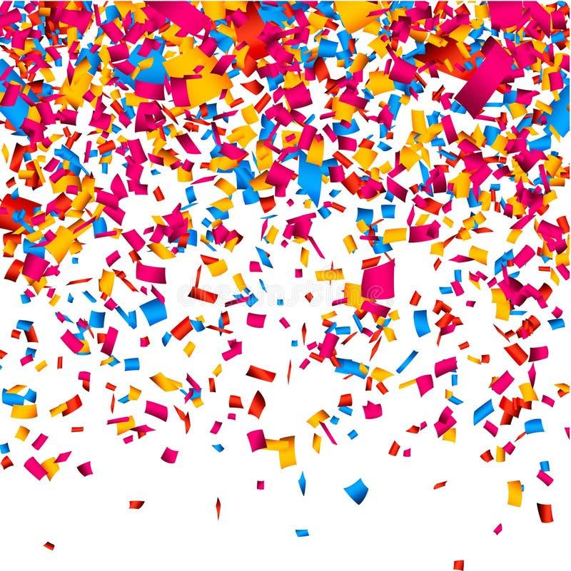 χαρούμενη ταπετσαρία κομφετί εορτασμού ανασκόπησης ελεύθερη απεικόνιση δικαιώματος