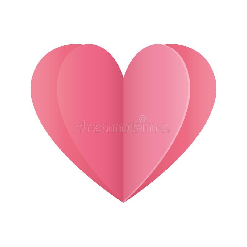 Χαρούμενοι βαλεντίνοι ημέρα κόκκινη καρδιά αγάπη οριγκάμι ελεύθερη απεικόνιση δικαιώματος