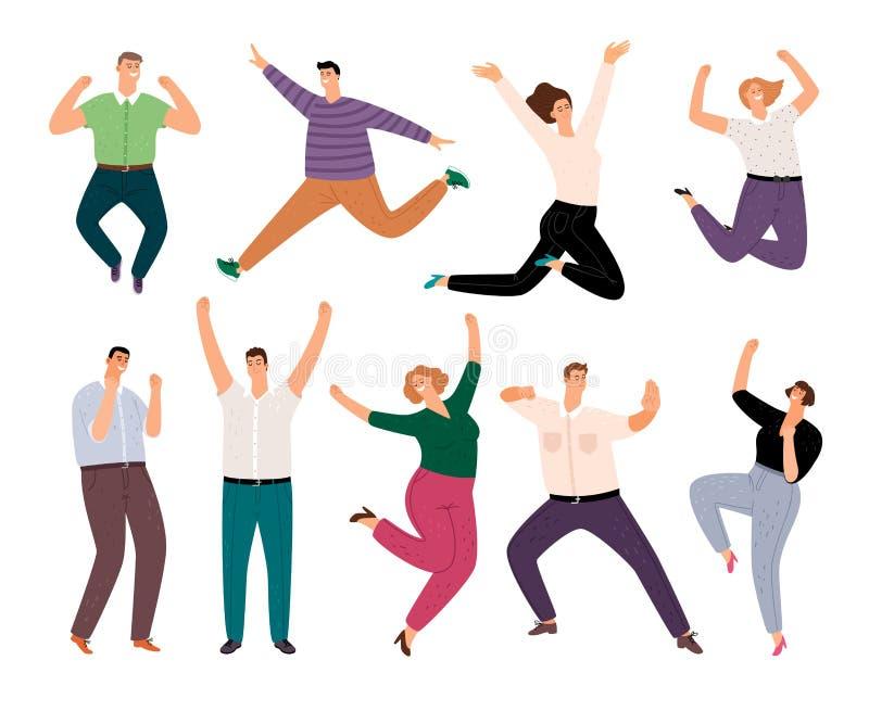 Χαρούμενοι περιστασιακοί άνθρωποι Διάφορα περιστασιακά ρούχα χαμογελαστά πρόσωπα, ομάδα κινουμένων σχεδίων νεαρών ενηλίκων ανδρών διανυσματική απεικόνιση